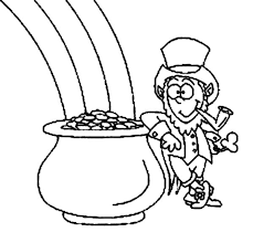 Small Picture leprechaun pot of gold coloring pages download Printable