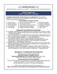 Diversity Recruiter Sample Resume Amazing Human Resources Goldman