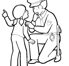 Police Officer Coloring Pages Printable Advocacyhubinfo