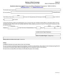 Notice Of Rent Increase Form Free 8 Notice Of Rent Increase Forms In Pdf Doc