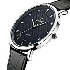 slim watches for men amazon com tonnier super slim quartz casual wristwatch business genuine leather analog men s watch