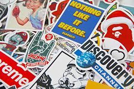 Arredamento Vintage Pop Art : Stickerfactory confezione da adesivi in vinile diversi stili