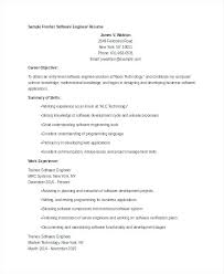 Objective In Resume For Software Engineer Fresher this is resume software engineer goodfellowafbus 35