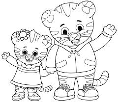Printable Daniel Tiger Coloring Pages Hand Drawing 243 Get