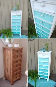 Aqua Ombre Painted Furniture Makeover  Pinterest