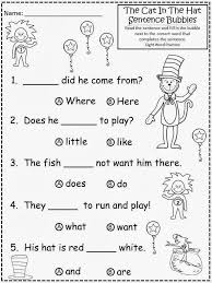 Small Picture Free Cat In The Hat Sentence Bubbles with Sight Word Practice