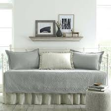 gray grey 5 piece twin daybed set quilted cotton cover bedding shams home pink and architecture twin daybed bedding