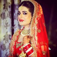 traditional north indian bride dark smokey eyes guru makeup artist