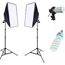 photo equipment soft studio lighting softbox continuous lighting kit 2meter light stand led swith photography softbox