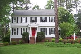 white house black shutters red door penfriends