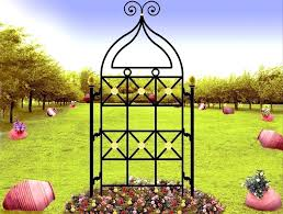 wrought iron garden trellis vintage wrought iron garden trellis