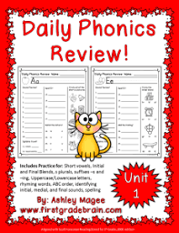 The lanternfish phonics resource section has greatly expanded. Daily Phonics Review Sheets Works With Or Without Scott Foresman Reading Street