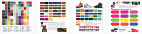 Angelus Color Charts Usa Shoe Company