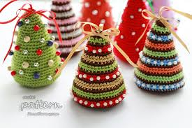 Crochet Christmas Tree Pattern New Little Colorful Christmas Trees Pattern No 48 Zoom Yummy