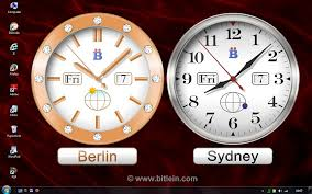 bclocks with big clocks for diffe time zones