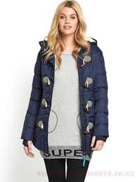 womens superdry jackets jacket winter coats womens coats colour navy puffle