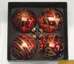 Us 1796 5 Offrot Farbe Weihnachtskugeln 8 Cm Durchmesser Ball Christbaumschmuck Weihnachten Lieferungen Geschenk 4 Teilepaket In Ball Ornamente