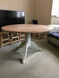 neptune chichester round 120 dining table and neptune miller chairs x 4