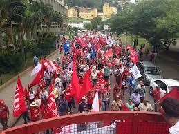 Resultado de imagem para protesto em defesa dos direitos trabalhistas em mossoró fotos