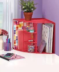 office desktop corner pink mesh desk organizer 3 shelves 2 large compartments