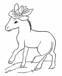 Small Picture Farm Animal Coloring Pages Donkey With A Hat Coloring Page And