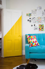 Orange Wall Paint Living Room 22 Clever Color Blocking Paint Ideas To Make Your Walls Pop