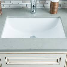 Rectangular Bathroom Sinks Hahn Ceramic Bowl Rectangular Undermount Bathroom Sink With