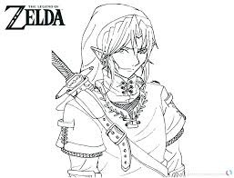 Coloring Pages Legend Of Zelda Twilight Princess Coloring Pages