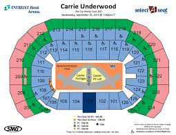 Intrust Bank Arena Seating Chart For Wwe 18 Comprehensive Arena Diagram