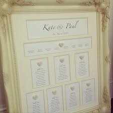 Mirror And Frame Wedding Seating Plans