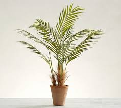 faux potted areca palm tree