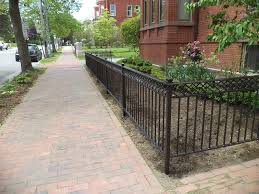 exterior designs standfast works forge ideal short wrought iron garden fence elegant design 6