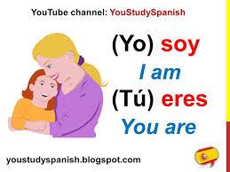 Spanish Lesson 17 Conjugate Spanish Verb Ser Conjugation Present Tense Ser And Estar To Be