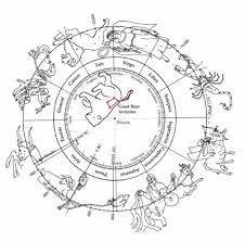 fig 5 6 the constellations and the northern skies on an earth view zodiac the center of this type of zodiac is occupied by the great and little bears