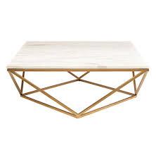 rosalie hollywood regency gold steel white marble coffee table