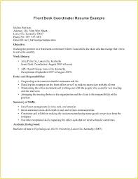 Stylish Ideas Front Desk Receptionist Resume Sample Agreeable Hotel