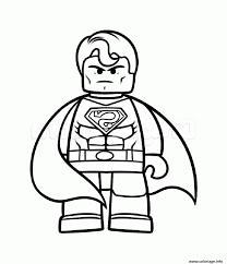 Coloriage Superman Vs Batman Lego Dessin