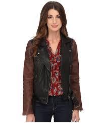 upc 803049637271 image for lucky brand leather moto jacket black multi women s