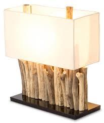 Levandeo Lampe 35 X 40 X 16 Cm Tischlampe Treibholz Unikat Holzlampe