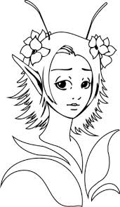 Fantasy Elf Girl Coloring Page Free Printable Coloring Pages
