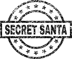 Santa Watermark Secret Santa Stamp Seal Watermark With Stock Vector