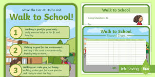 Walking Chart Lets All Walk To School Resource Pack Walk To School Week