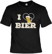 Lustiges Sprüche Shirt T Shirt Blechschild Set I Love Bier Gefühle