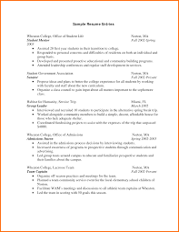 6 Resume For A Freshman College Student Paradochart