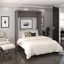 Cielo Full Wall Bed in Gray