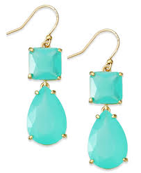 lyst kate spade new york gold tone colorful stone double drop kate spade new york crystal chandelier earrings