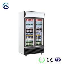 china upright glass door drink fridge with led lighting lg 950 china showcase refrigerator