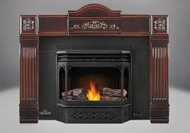 phazer logs mirro flame porcelain reflective radiant panels 8 black flashing with trim cast iron surround in majolica black door and trivet