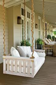 White Farmhouse Porch Swing