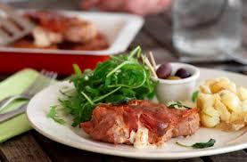 pork loin steaks with mozzarella